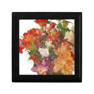 Flowery Springtime Bouquet of Freesias! Small Square Gift Box