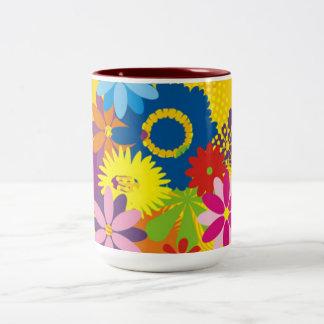 Flowery Two Tone Mug