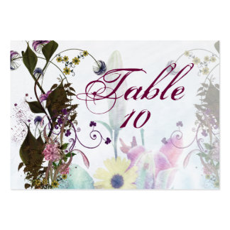 Flowery Wedding Bouquet Seating Cards Business Card Template