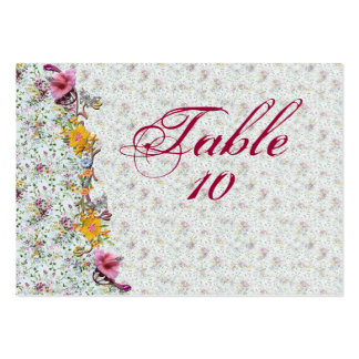 Flowery Wedding Seating Cards Pack Of Chubby Business Cards
