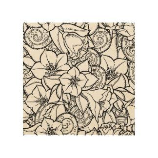 Flowery Zendoodle 5 Wood Wall Decor