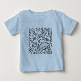 Flowery Zendoodle Baby T-Shirt