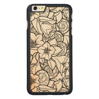 Flowery Zendoodle Carved® Maple iPhone 6 Plus Case