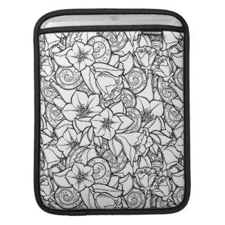 Flowery Zendoodle iPad Sleeve