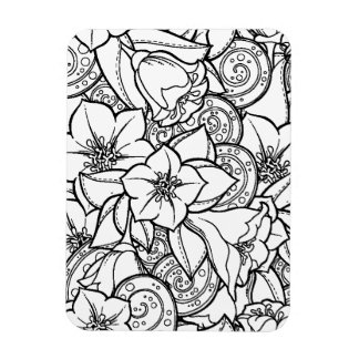 Flowery Zendoodle Magnet