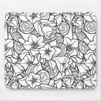 Flowery Zendoodle Mouse Mat