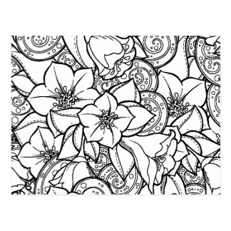 Flowery Zendoodle Postcard