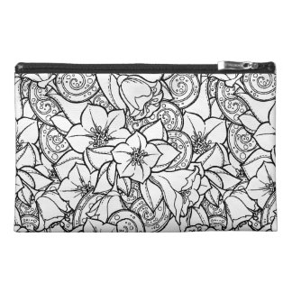 Flowery Zendoodle Travel Accessory Bag