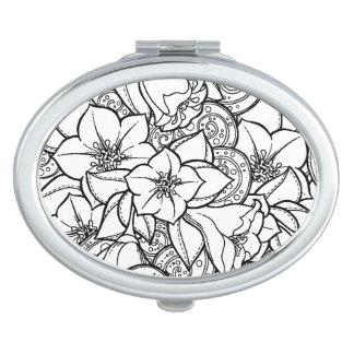 Flowery Zendoodle Vanity Mirror