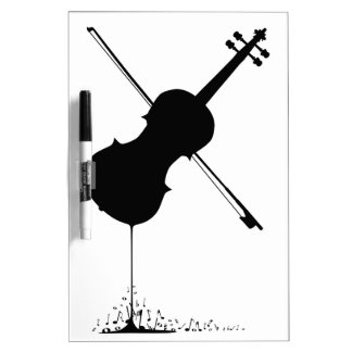 Flowing Fiddle Music Dry Erase Board