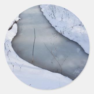 flowing frozen classic round sticker