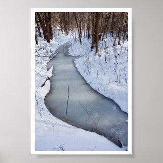 flowing frozen poster