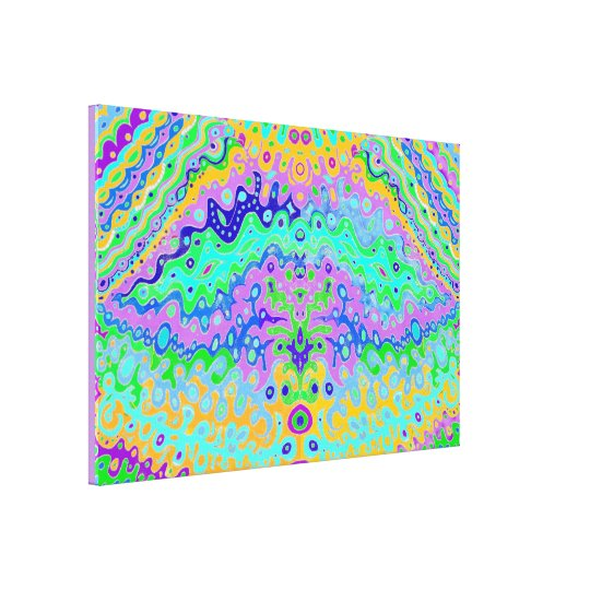 Flowing Life Abstract Art Canvas