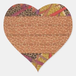 flowing music heart sticker