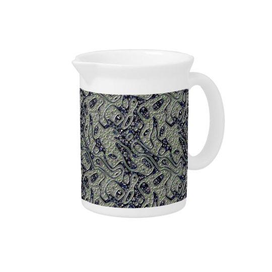 Flowing textures pitcher