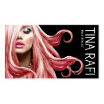 Flowing Tresses Hair Stylist pink hair   black
