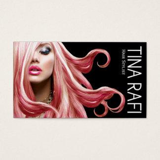 Flowing Tresses Hair Stylist pink hair | black