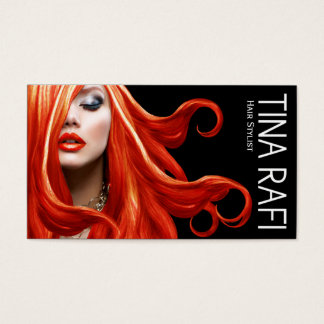 Flowing Tresses Hair Stylist redhead | black