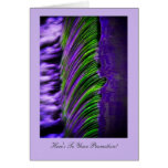 Flowing Water Abtract Congratulations on Promotion Greeting Cards