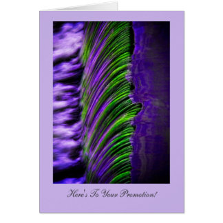 Flowing Water Abtract Congratulations on Promotion Greeting Card