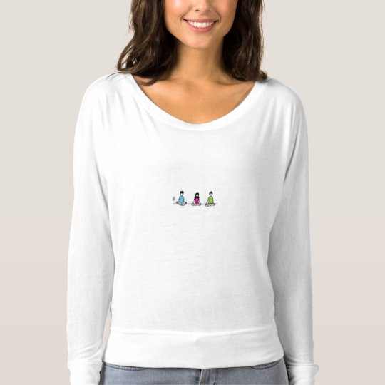 Flowji and Friends - Girls Long Sleeve T-Shirt