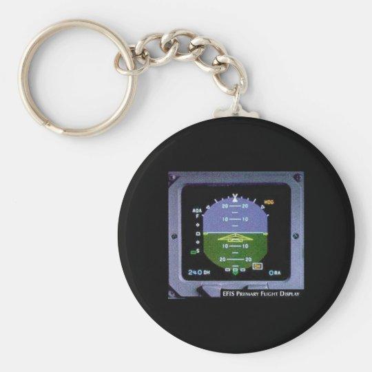 Flt Director Basic Round Button Key Ring