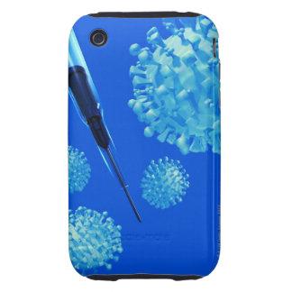 Flu vaccine, conceptual computer artwork. tough iPhone 3 covers