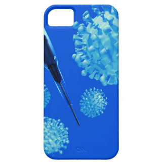 Flu vaccine, conceptual computer artwork. iPhone 5 covers