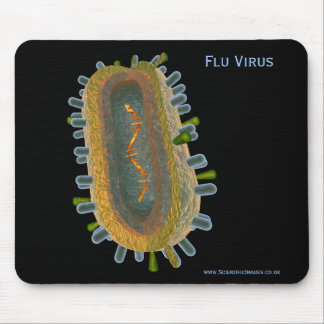 Flu Virus Mouse Pad
