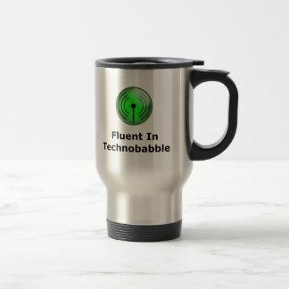 Fluent In Technobabble Stainless Steel Travel Mug