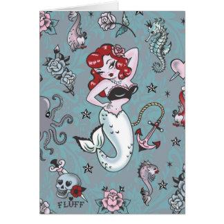 Fluff Molly Mermaid Card
