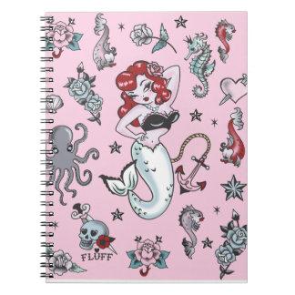 Fluff Molly Mermaid Notebook-pink Notebook