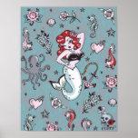 Fluff Molly Mermaid Poster
