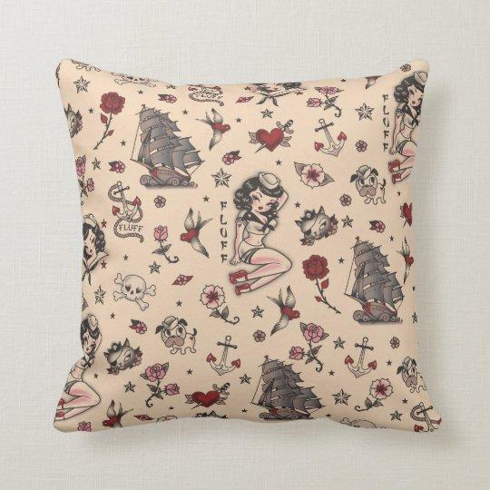 Fluff Suzy Sailor tattoo Pillow
