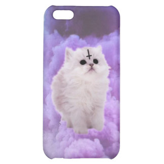 Fluffly wittle Satan kitty Cover For iPhone 5C