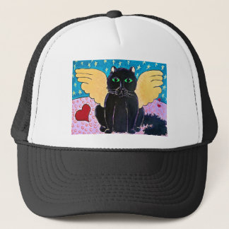 Fluffy Angel Cat Trucker Hat