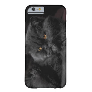 Fluffy Black Cat relaxing Barely There iPhone 6 Case