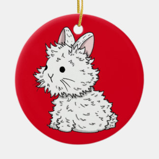 Fluffy bunny Decoration - Color of your choice