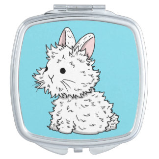 Fluffy bunny mirror - Colour of your choice Mirror For Makeup