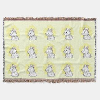 Fluffy bunny Throw Blanket - Yellow