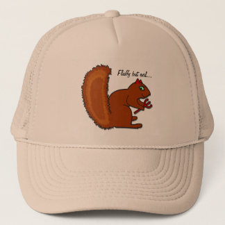 Fluffy but evil... trucker hat