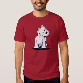Fluffy Butt Westie Dark T-Shirt