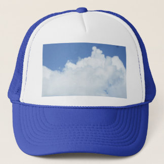 Fluffy Clouds in Bright Blue Sky Trucker Hat
