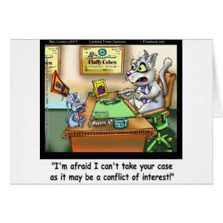 Fluffy Cohen Atty @Claw Funny Cat & Lawyer Card