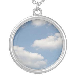 Fluffy Cumulus Clouds Necklace