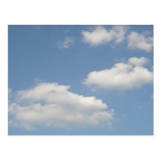 Fluffy Cumulus Clouds Postcard