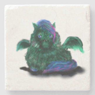 Fluffy Dragon Pony Stone Coaster