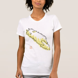 Fluffy Flop Cat (Yellow dot) T-Shirt
