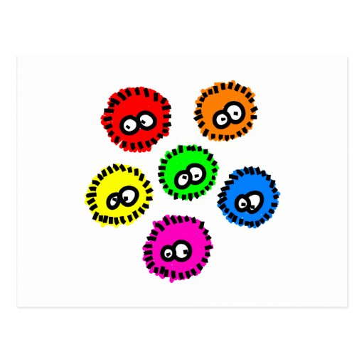 Fluffy Germs Postcards