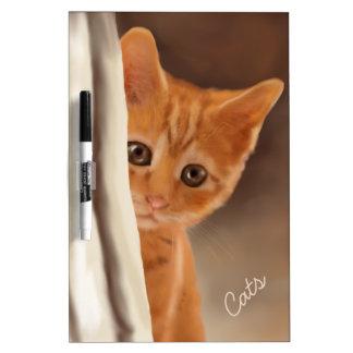 Fluffy Ginger Kitten Dry Erase Board